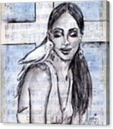 Cross Dove Canvas Print
