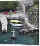 Cross In A Harbor Canvas Print