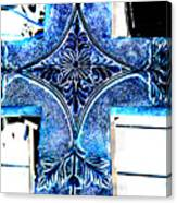 Cross In Blue Canvas Print