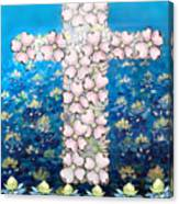 Cross Of Flowers Canvas Print