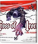 Cross Of Iron Theatrical Poster 1977 Canvas Print