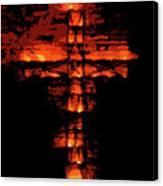 Cross On Fire Canvas Print
