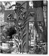 Cross Series IIi In Black And White Canvas Print