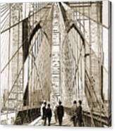 Cross That Bridge Vintage Photo Art Canvas Print