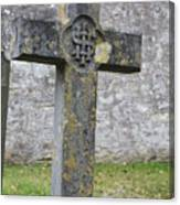 Cross Tombstone St. Mary's Wedmore Canvas Print
