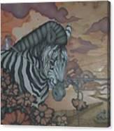 Crossing The Mara Canvas Print