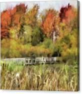 Crossing The Marsh Canvas Print