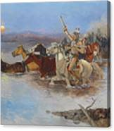Crossing The River Canvas Print