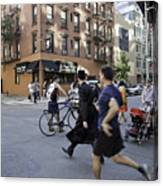 Crossing The Street In Dumbo Canvas Print