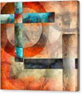 Crossroads Abstract Canvas Print