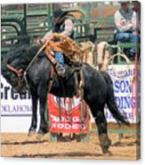 Crow Hopping Saddle Bronc Canvas Print