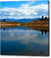 Crow Lake Montana Canvas Print