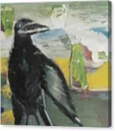 Crow Ruckus Canvas Print