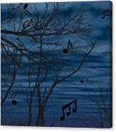 Crow Sings At Midnight Canvas Print