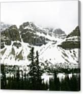 Crowfoot Mountain At Bow Lake Canvas Print