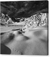 Crowley Lake Snow Fields Canvas Print