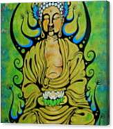 Crowned Buddha Canvas Print