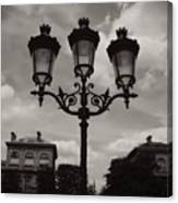 Crowned Luminaires In Paris Canvas Print