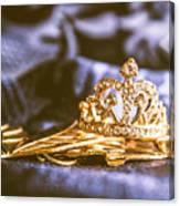Crowned Tiara Jewellery Canvas Print