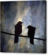 Crows And Sky Canvas Print