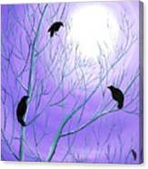 Crows On Empty Branches Canvas Print