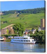 Cruise Boat, Rudesheim, Germany Canvas Print
