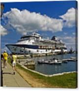 Cruise Ship In Bermuda Canvas Print