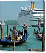 Cruise Ship Port Of Venice Canvas Print