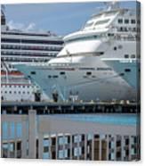 Cruise Ship Trio Canvas Print