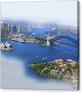 Cruise Sydney Canvas Print