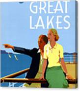 Cruise The Great Lakes Vintage Travel Poster Canvas Print