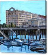 Cruiseport Boston Canvas Print
