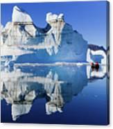 Cruising Between The Icebergs, Greenland Canvas Print