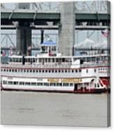 Cruising The Ohio River Canvas Print