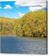 Crum Creek In Autumn Canvas Print