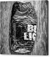 Crushed Blue Beer Can On Plywood 78 In Bw Canvas Print