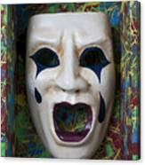 Crying Mask In Box Canvas Print