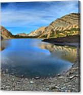 Crypt Lake Gold And Blue Canvas Print