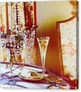 Crystal And Champagne Canvas Print