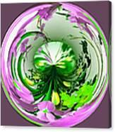 Crystal Ball Flower Garden Canvas Print