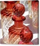 Crystal Bottles Canvas Print
