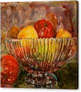 Crystal Bowl Of Fruit Canvas Print