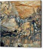 Crystal Cave Marble Formations Portrait Canvas Print