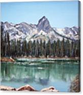 Crystal Crag From Twin Lakes Mammoth Ca Canvas Print