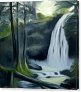 Crystal Falls In The Black Forest Dreamy Mirage Canvas Print