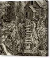 Crystal Mill Marble Colorado Sepia Dsc06944 Canvas Print
