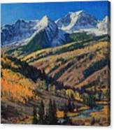 Crystal River Valley Canvas Print