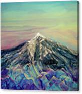 Crystalline Mountain Canvas Print