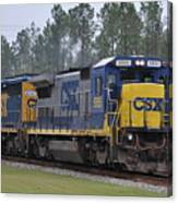 Csx 5955 Through Folkston Georgia Canvas Print
