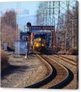 Csx Coming Towards Bound Brook Station Canvas Print